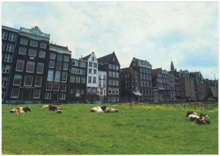 ansichtkaart warmoesstraat amsterdam