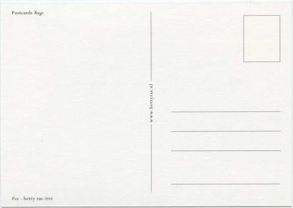 postcard fox backside