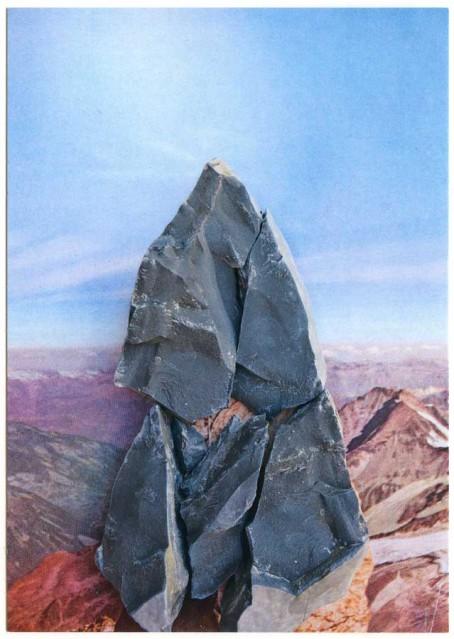 postcard swiss peak
